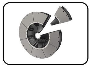 SAG mill discharge end liner