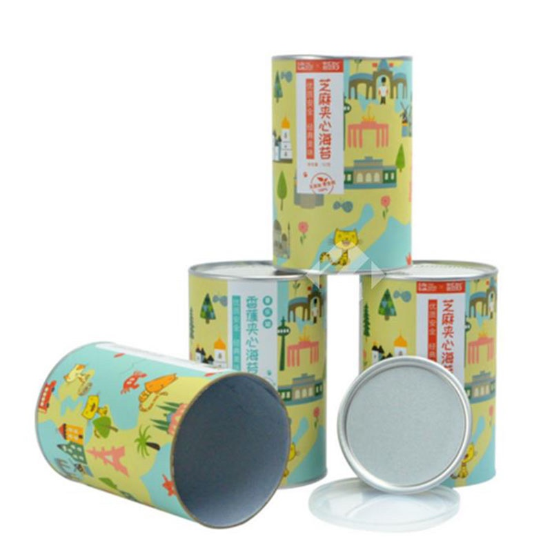 Round Cardboard Composite Cans Packaging