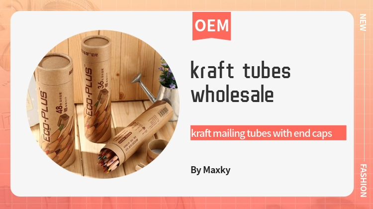 Sales Kraft Mailing Tubes With End Caps