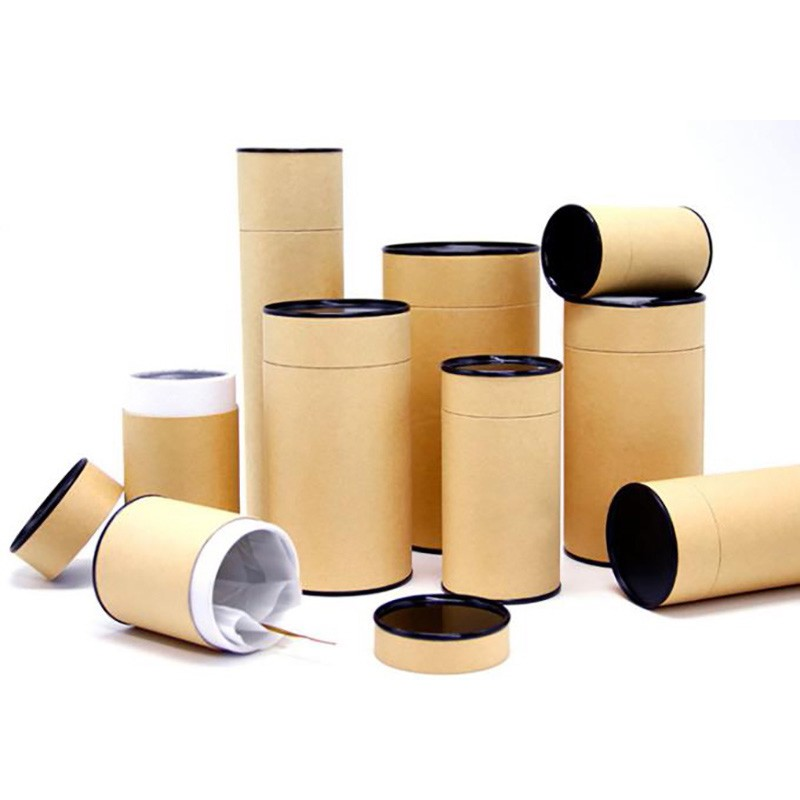 Cardboard Tea Canister Tube Boxes Packaging