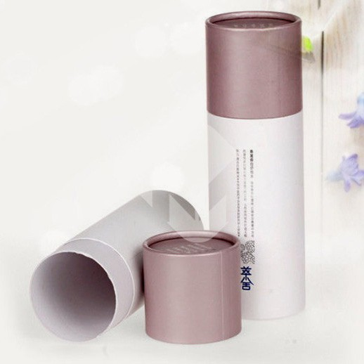 Cylinder Cardboard Paper Cosmetic Packaging Boxes