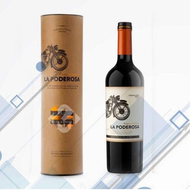 Recycled Brown Kraft Paper Wine Bottle Tubes