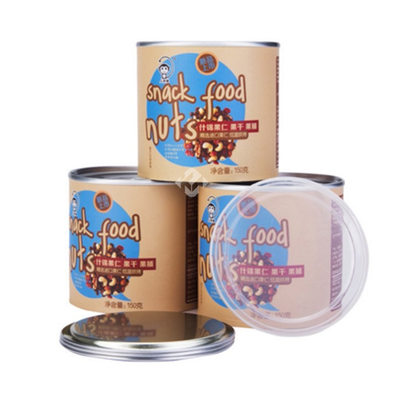 Small Round Cardboard Food Grade Paper Canisters