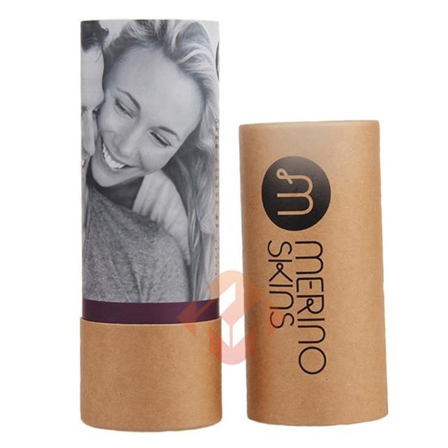 Clear Cylinder Kraft Paper Tube Packaging