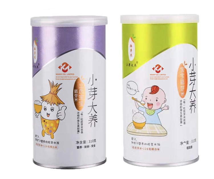 Germ rice packaging paper cans