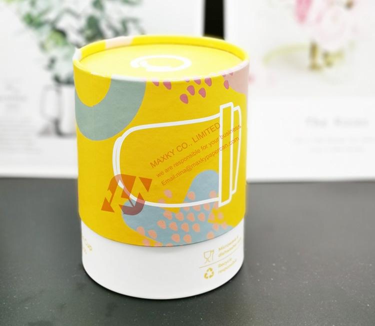 Matte lamination cardboard cylinder packaging