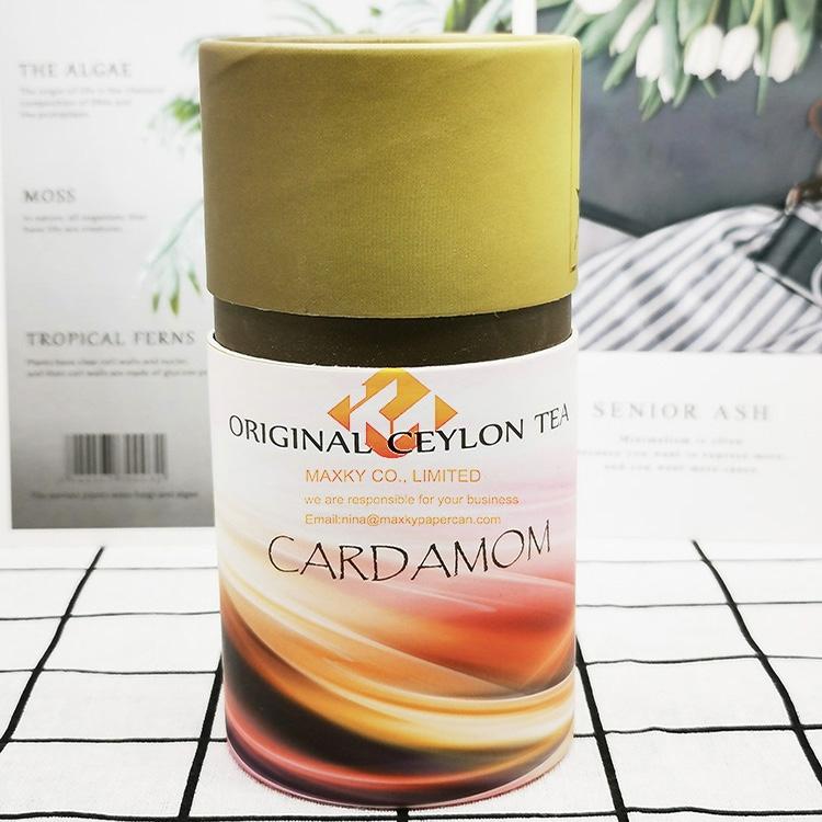 Cardboard material custom tube packaging