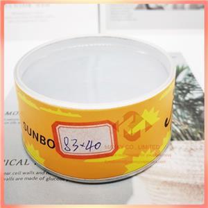 Transparent plastic lid paper canister