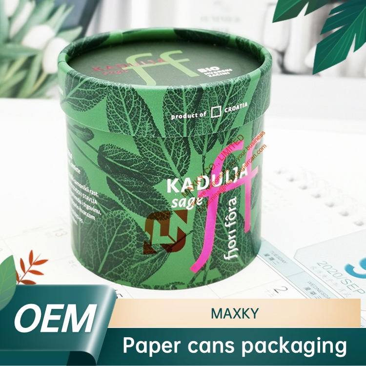 Gold hot stamping paper canister