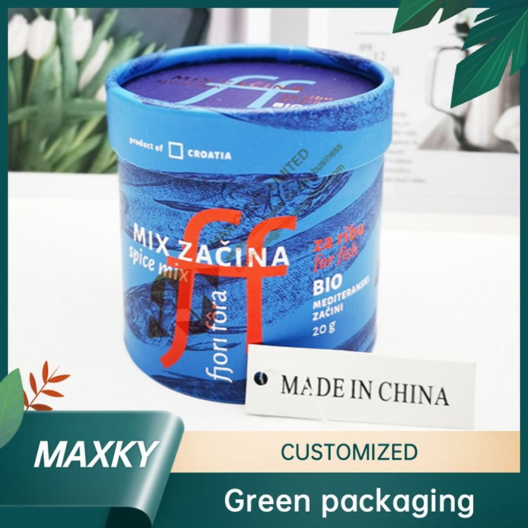 Paper cylinder containers kraft paper tube packaging