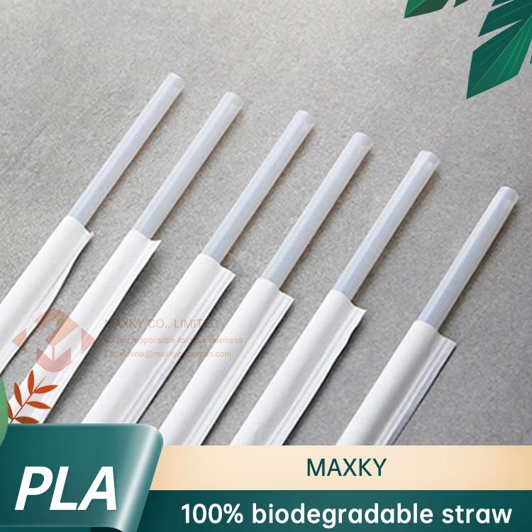 Engångs PLA-sugrör biologiskt nedbrytbara oberoende förpackningsdrinkrör