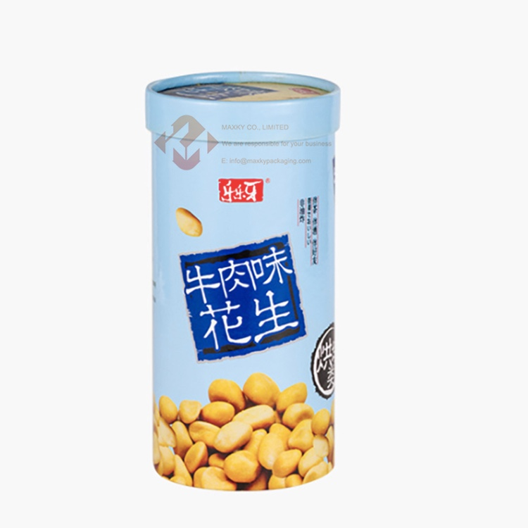 Cardboard cylinders with lids for peanut Manufacturers, Cardboard cylinders with lids for peanut Factory, Supply Cardboard cylinders with lids for peanut