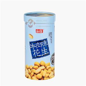 Cardboard cylinders with lids for peanut