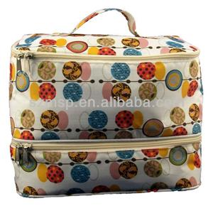 Eco Friendly Cotton Canvas Overall Print Cosmetic Bag
