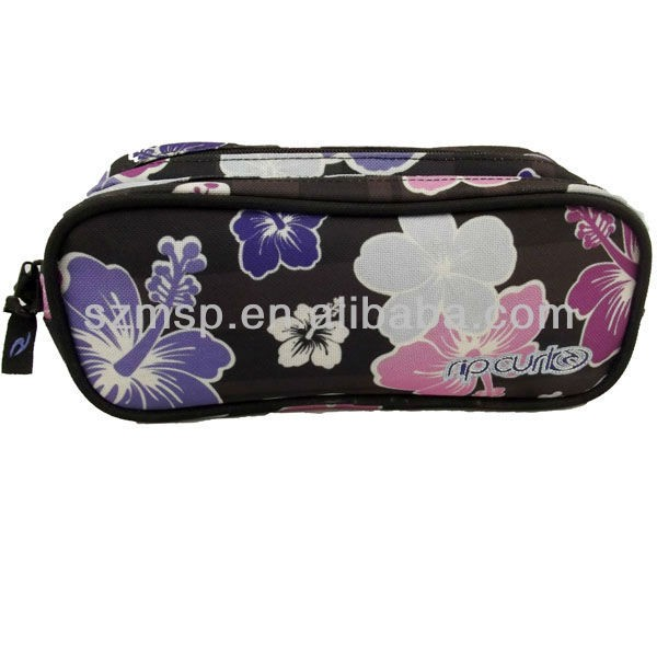 Double Compartment Round Rectangle Pencil Case