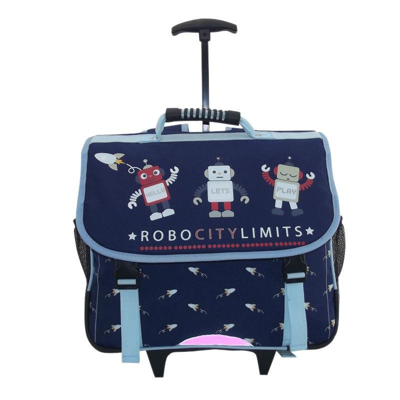 School Backpack Wheels Trolley BSCI Factory