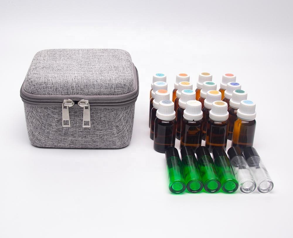 Hemp Linen Essential Oil Carrying Case Roller Bottles
