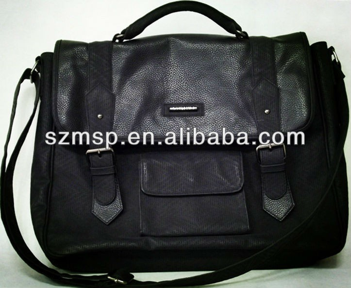 Premiums Messenger Bag In Cotton And Leather