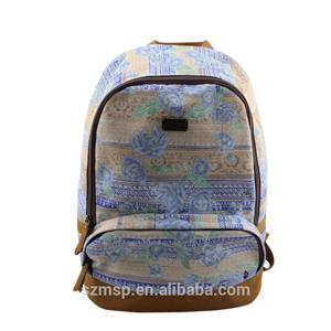 Eco Friendly Water Printing Canvas Daily Backpack
