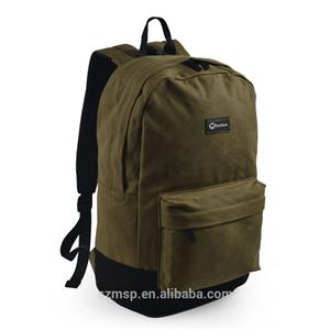 Wax Canvas Backpack Earphone Hole BSCI Factory