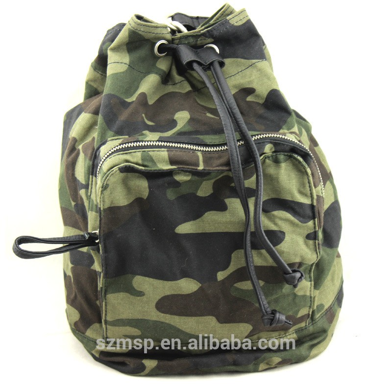Camo Drawstring Backpack Trip Pack