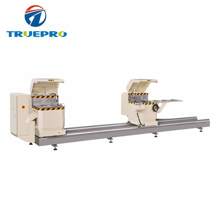 Aluminum UPVC Window Door Frame CNC Double-Head Precision Cutting Saw Machine