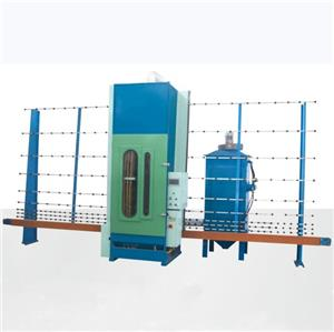 Vertical automatic glass sandblasting machine