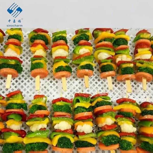 IQF Frozen Vegetable Kebab Manufacturers, IQF Frozen Vegetable Kebab Factory, Supply IQF Frozen Vegetable Kebab
