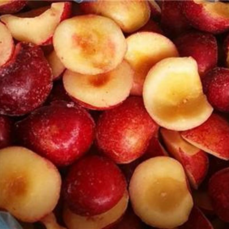Frozen nectarine halves