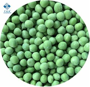 Frozen organic green pea
