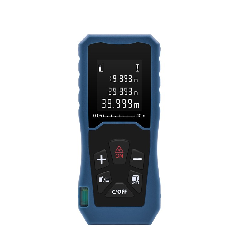 Laser Measuring Distance Meter Backlit LCD 40m