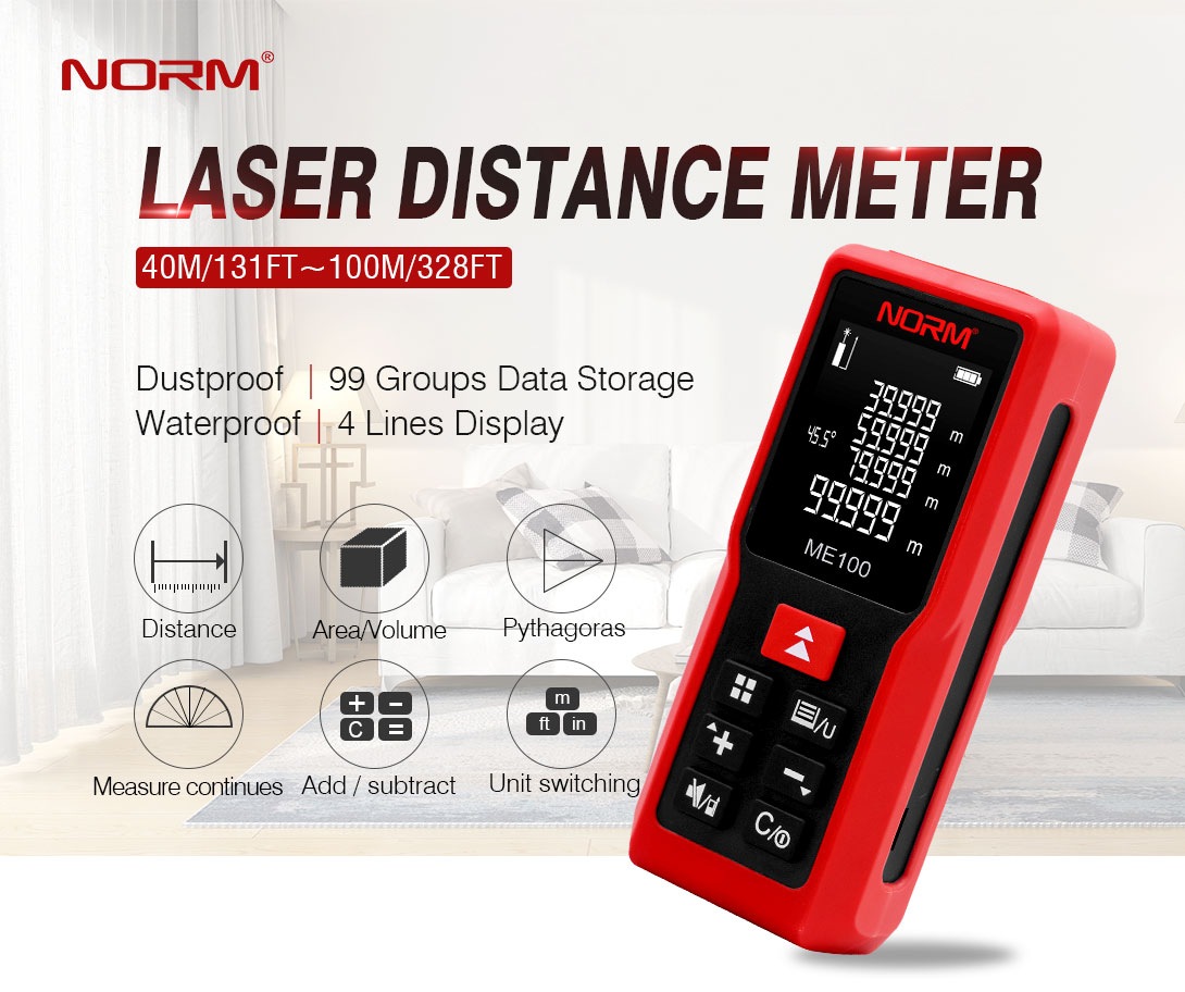 Outdoor laser distance measure