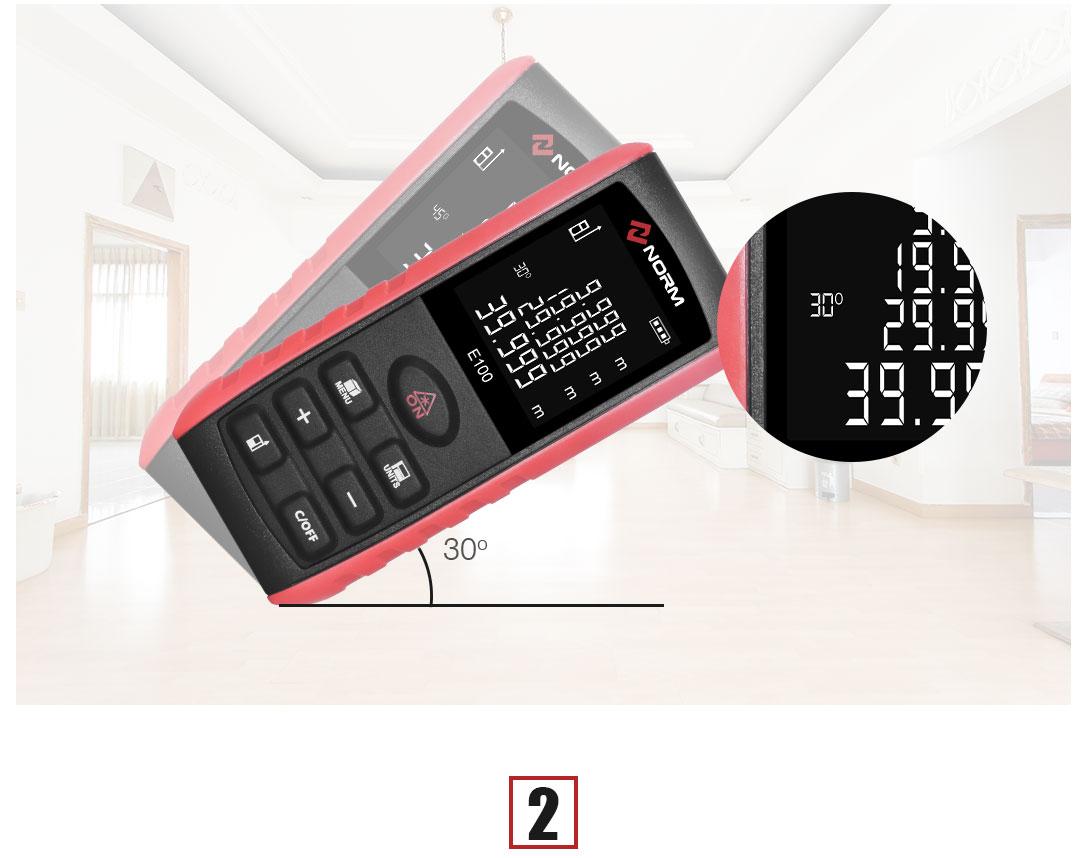 laser distance meter angle sensor