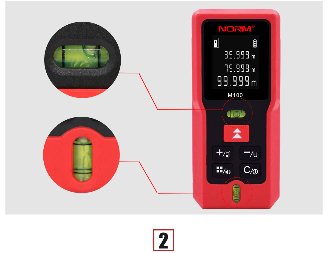 Handheld laser distance measure