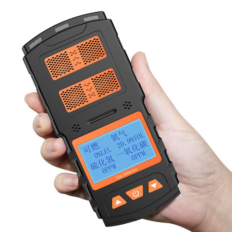 LCD 4 In 1 Gas Detector Multi Gas Alarm Detector