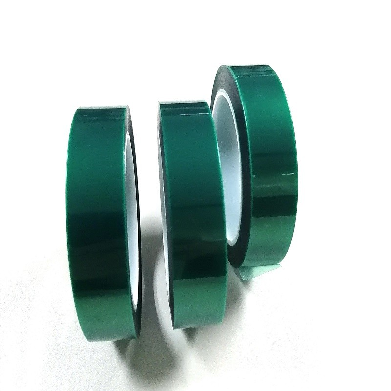 55 micron high temperature silicone adhesive green PET tape