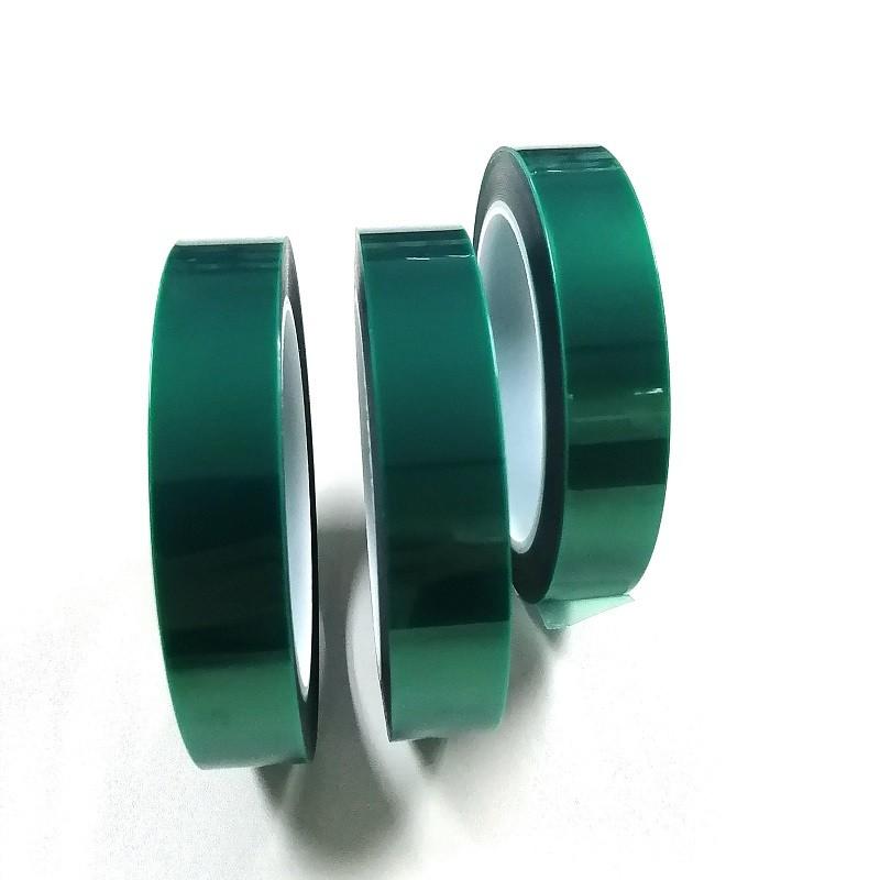 55ミクロン高温シリコーン接着剤グリーンPETテープ