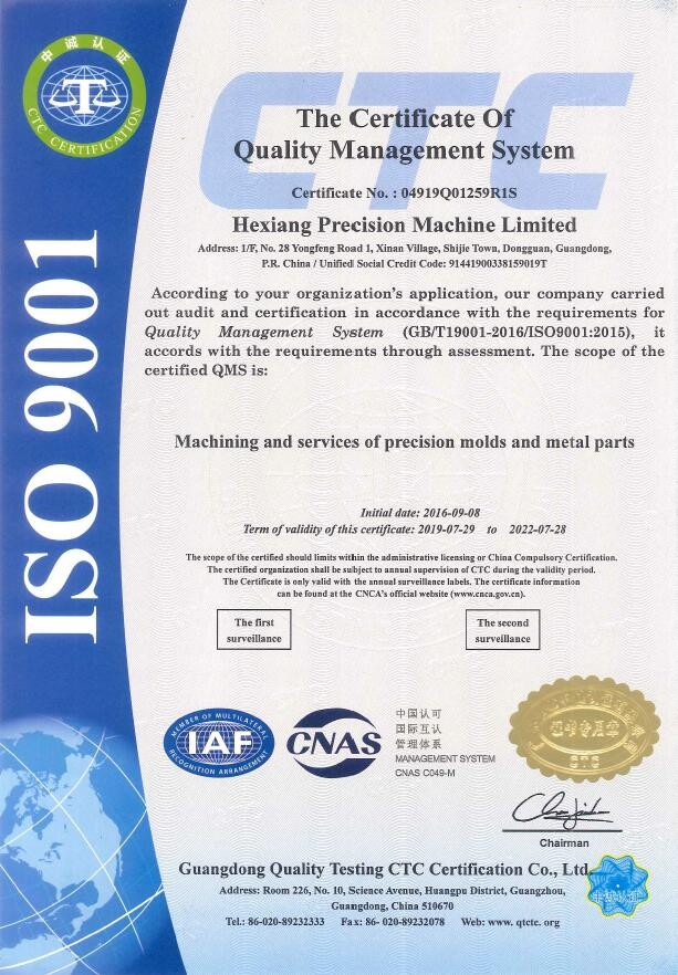 Quality management systems - ISO 9001