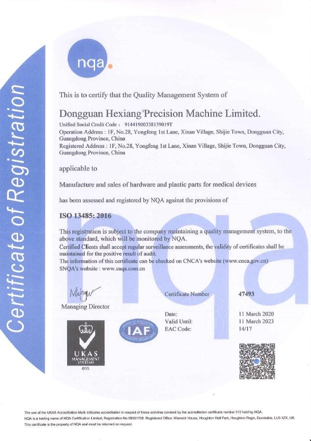 Quality management systems - ISO 13485