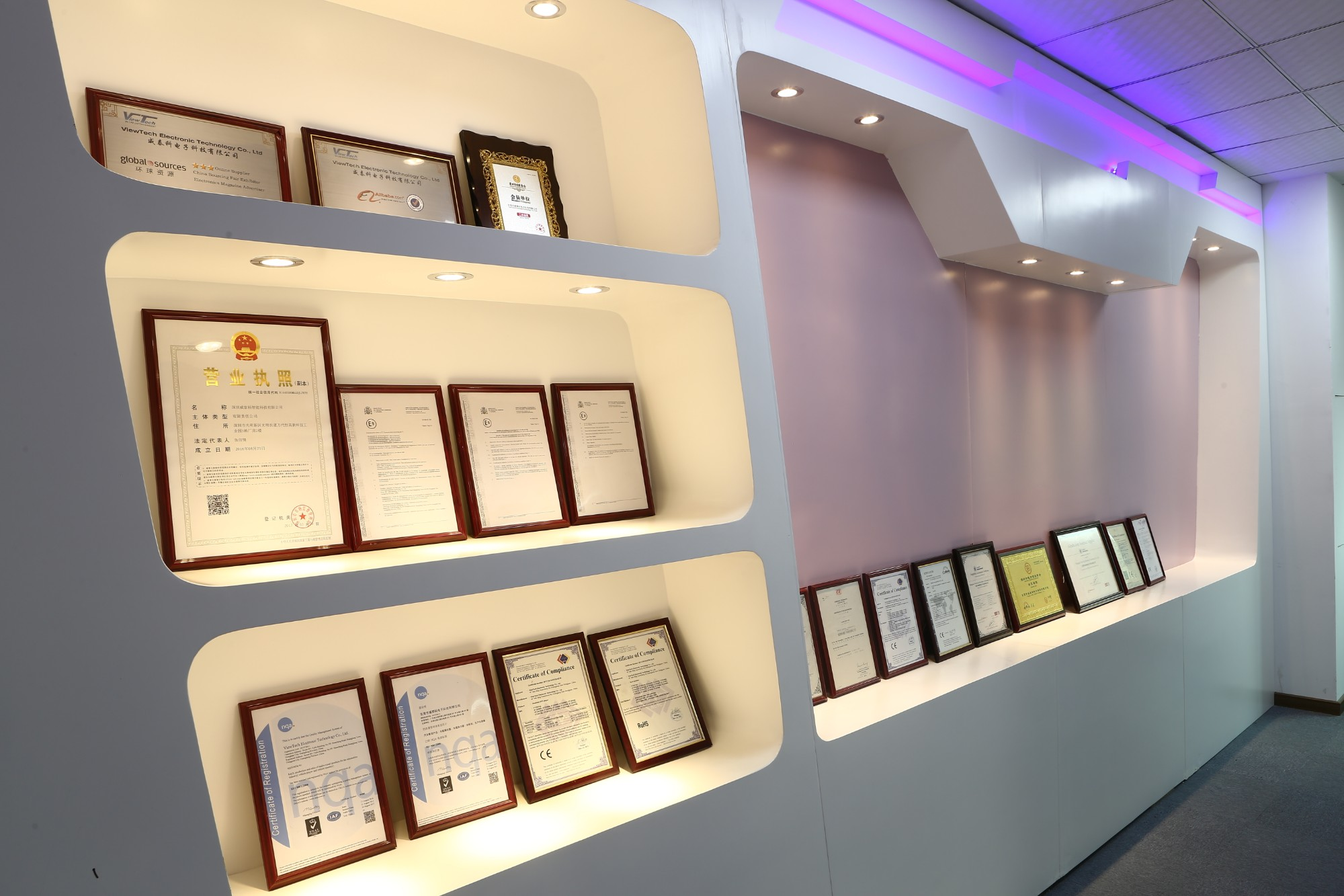 Certificates Display Area