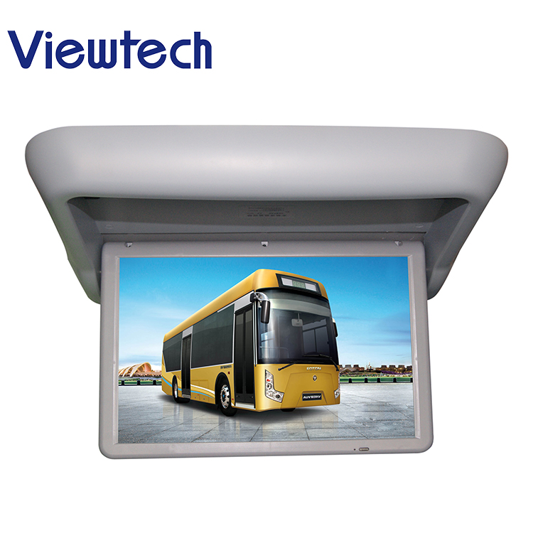 22 inch flip down city bus lcd mounted monitor