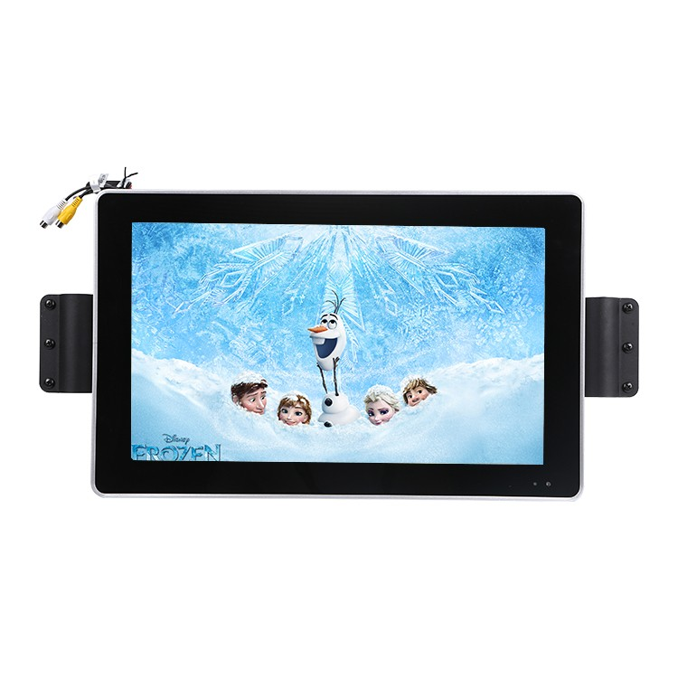 21.5 Inch City Bus Monitor 24v Tempered Glass Horizontal Stand Full Viewing Angle 1080p Remote Control For City Bus