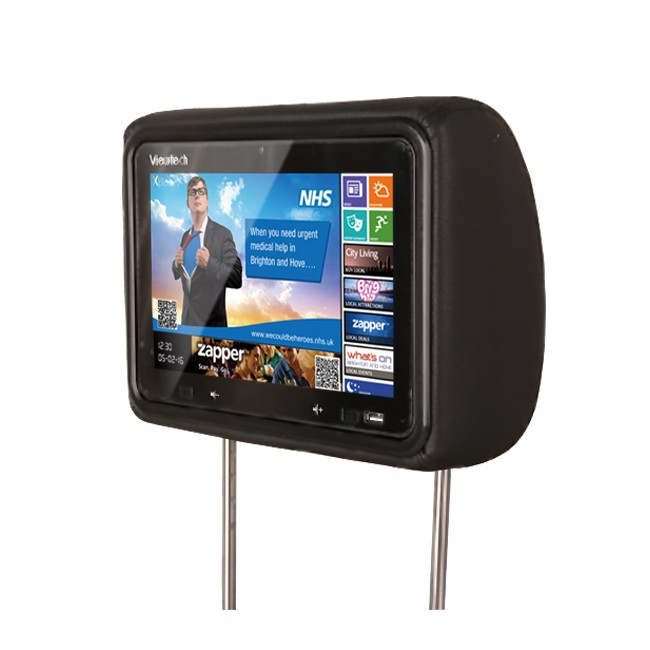 10.1inch android 8.1 car taxi headrest advertising display screen taxi lcd advertising player