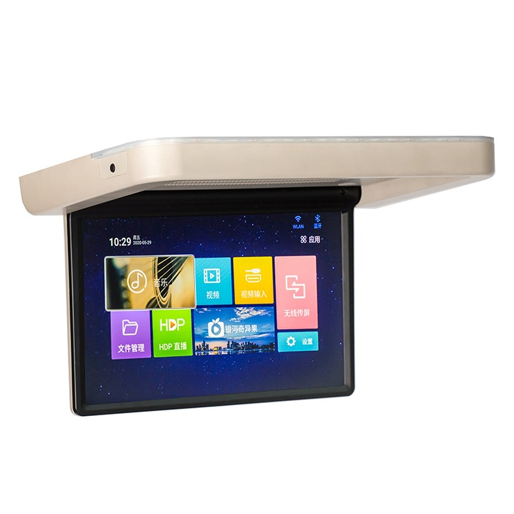 11.6 inch Roof Flip Down Monitor 12V Touch Screen 8K Wifi BT Android 9.0, 8-Core Motorized Lcd Monitor For luxury car