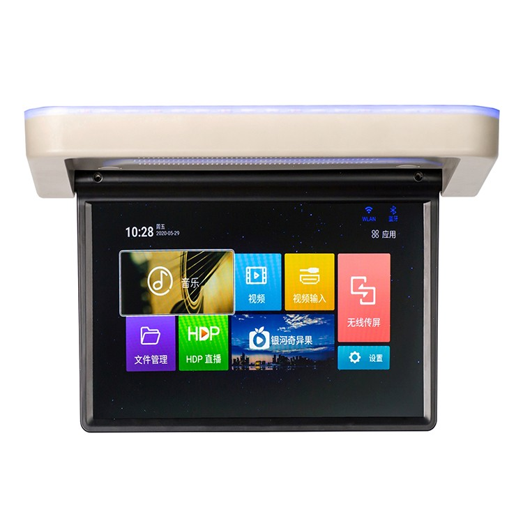 15.6 inch Stepper Motor Monitor 12V Touch Screen Support 8K Video Play Android 9.0 Motorized Lcd Monitor For Business car