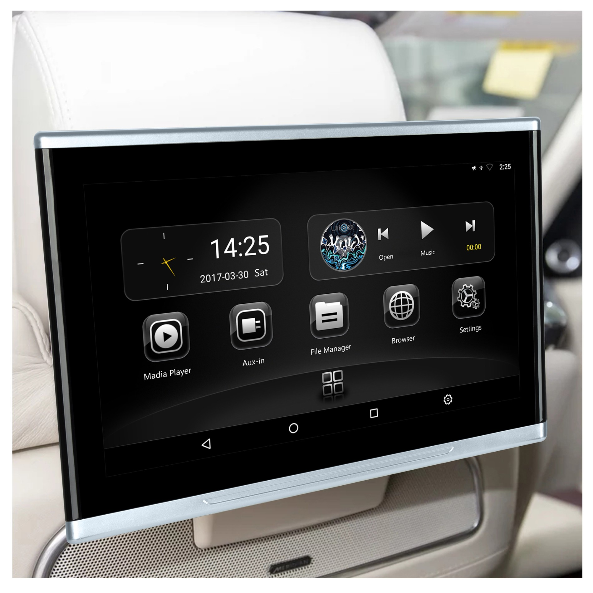 Mirror Link Car Lcd Video hd With IPS Touch Screen HD Input Wifi bluetooth Car Monitor Rear Seat Lcd Player