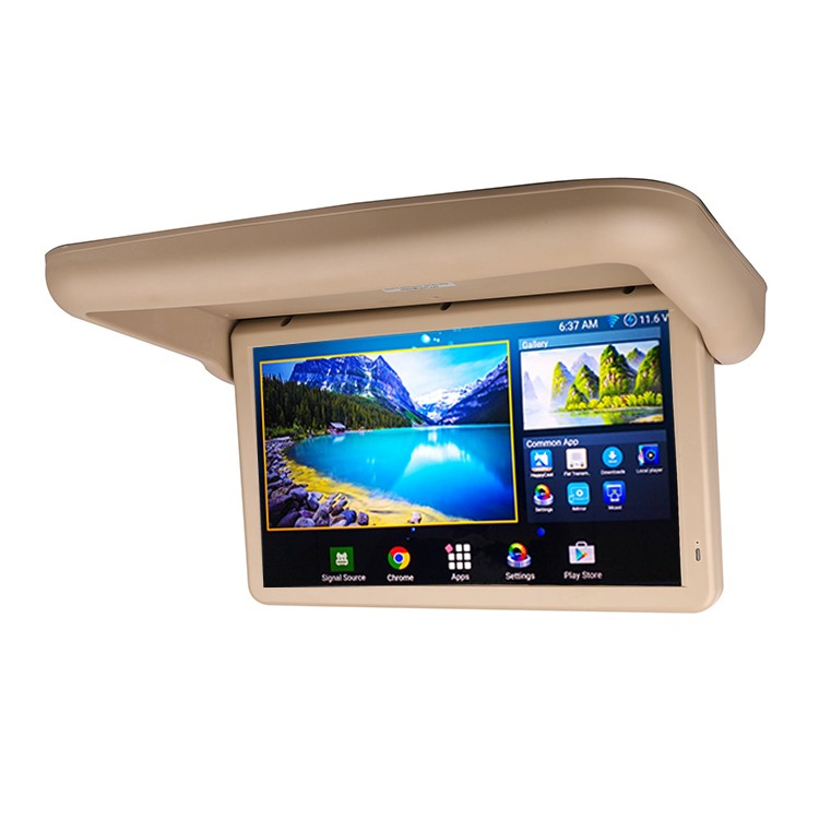 Super high quality 18.5 inch Android 6.0 Full Motorized tv ceiling flip mounts Monitor for Bus