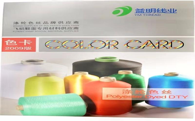 Carta de colores de poliéster teñido DTY 150D
