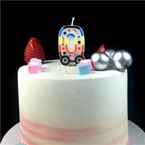 Color Car Shaped Number Birthday Cake Candle