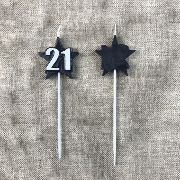 Black Number 21 Birthday Cake Candles With Stars On Picks Manufacturers, Black Number 21 Birthday Cake Candles With Stars On Picks Factory, Supply Black Number 21 Birthday Cake Candles With Stars On Picks